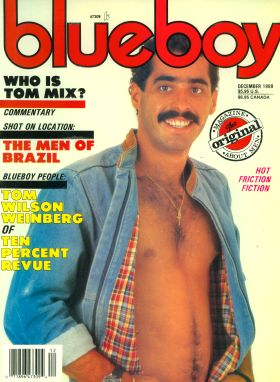Vintage! BLUEBOY MAGAZINE, January 1978, National Magazine - Men / Gay Interest