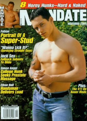 Mandate Magazine Page 1, GayBackIssues.com Vintage Gay